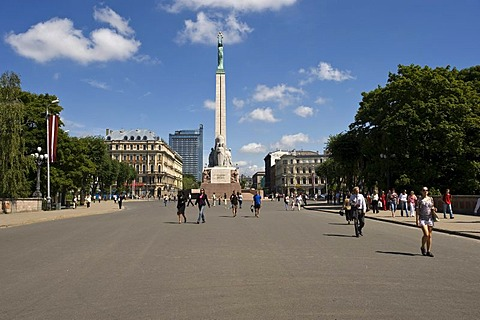 Brivibai monument, Brivibai square, Freedom Monument, Riga, Latvia, Baltic States, PublicGround