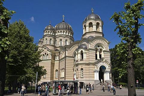 Russian-orthodox cathedral, Riga, Latvia, Baltic States, PublicGround