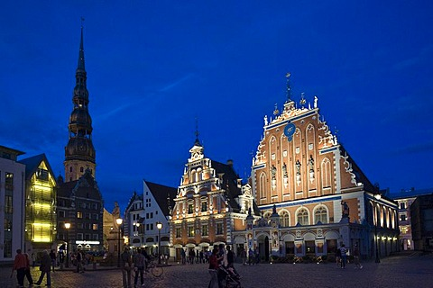 House of the Blackheads at the Raetslaukums, city hall square ans St. Peter, Riga, Latvia, Baltic states, PublicGround
