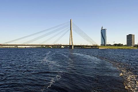 Cable-stayed bridge, Riga, Latvia, Baltic States