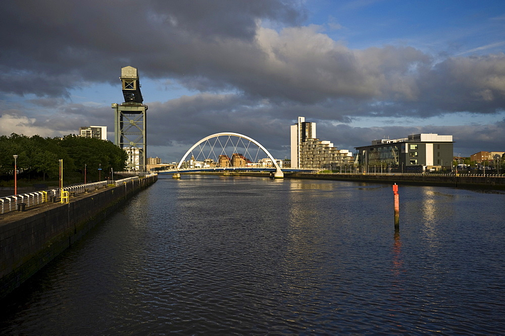 Clyde Arch and Clyde Port, Glasgow, Scotland, United Kingdom, Europe, PublicGround
