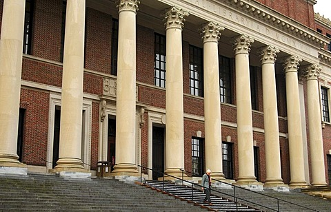 Harry Elkins Widener Memorial Library, Harvard University, Cambridge, Massachusetts, USA