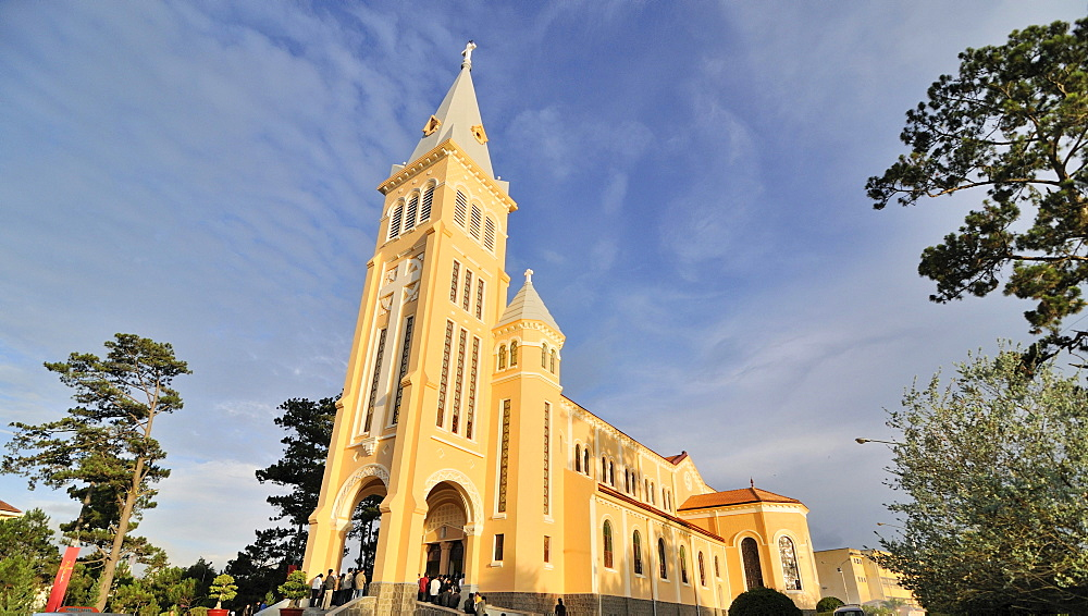 Catholic cathedral, Dalat, Central Highlands, Vietnam, Asia