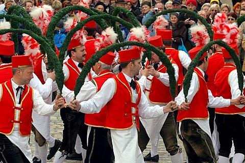 Schaefflertanz folk dance, Bad Toelz, Bavaria, Germany