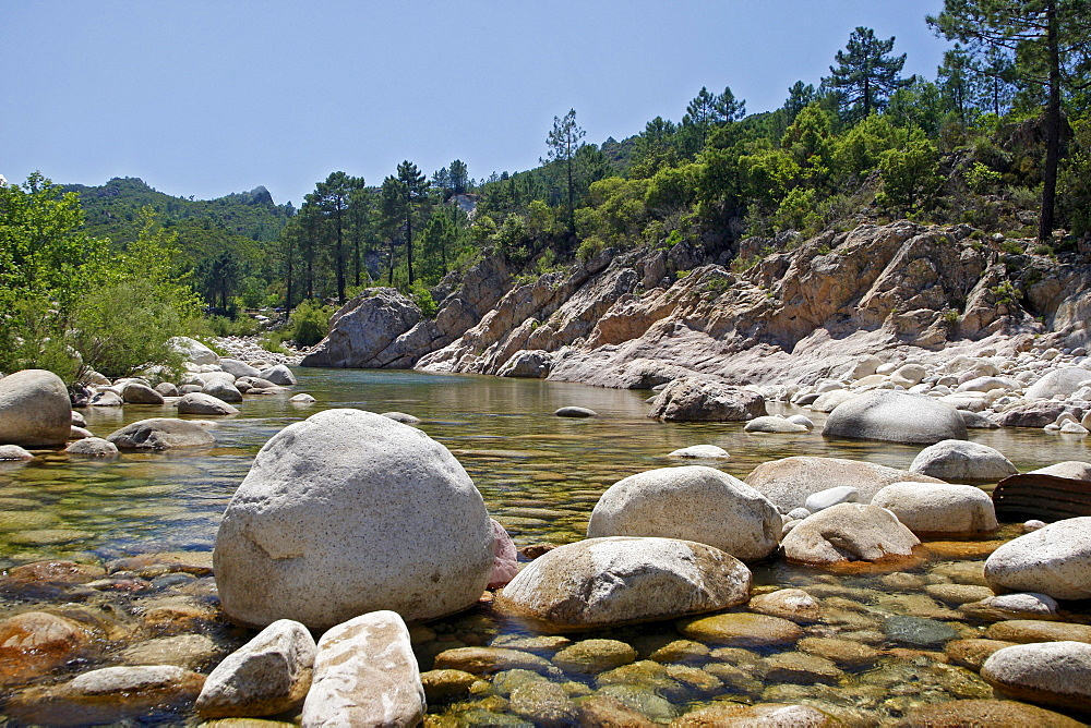 Solenzara River, Bavella mountain group, Corsica, France, Europe
