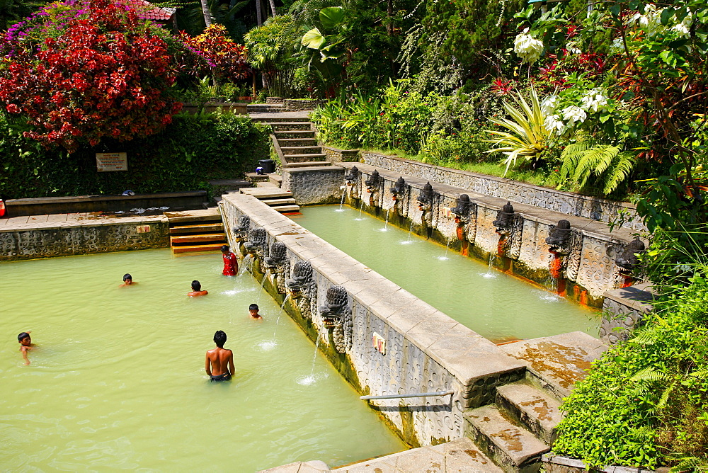 Old bath with hot springs in Ambengan, Bali, Republic of Indonesia, Southeast Asia