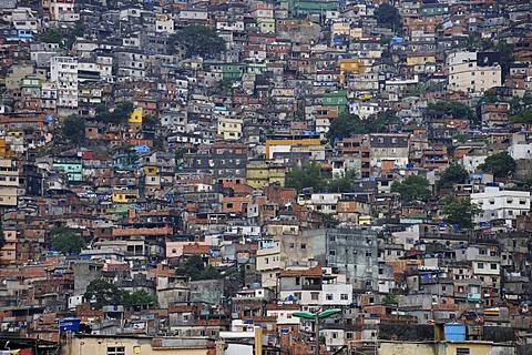 Favela in Rio de Janeiro, Brazil, South America - 832-222299