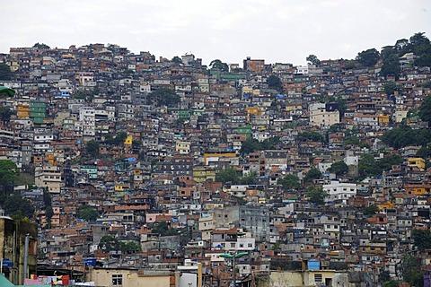 Favela in Rio de Janeiro, Brazil, South America - 832-222300