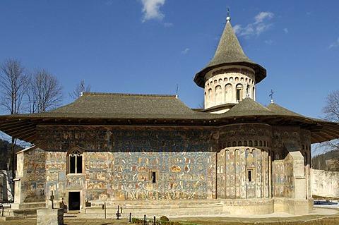 Monastery Church of Saint George in Voronet, UNESCO World Heritage Site, Romania, Eastern Europe