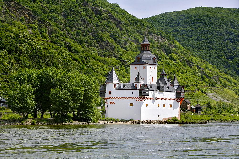 Burg Pfalzgrafenstein palace in Kaub am Rhein, Rhineland-Palatinate, Germany, Europe
