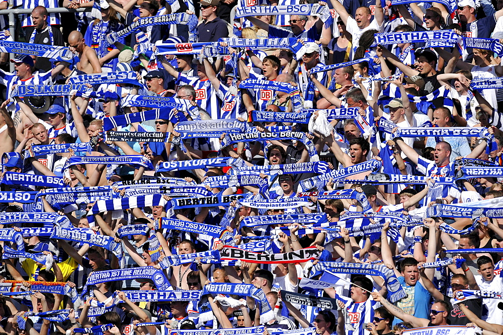 Hertha BSC fan block