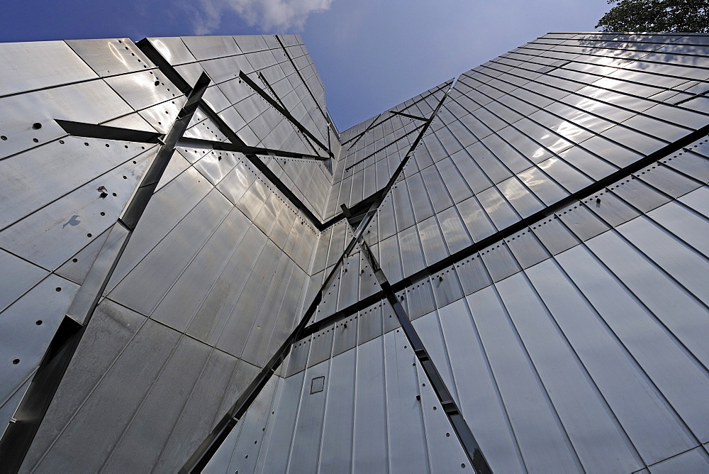 Jewish Museum, new building by Daniel Libeskind, detailed view of the facade, Berlin, Germany, Europe