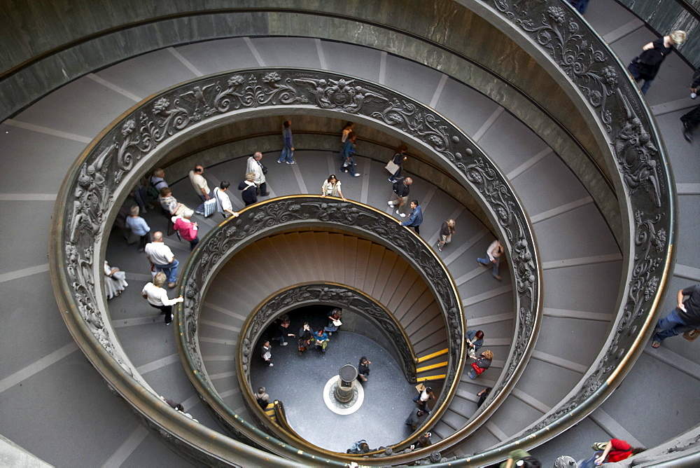 Spiral staircase at the exit of the Vatican Museums, Rome, Vatican City, Europe