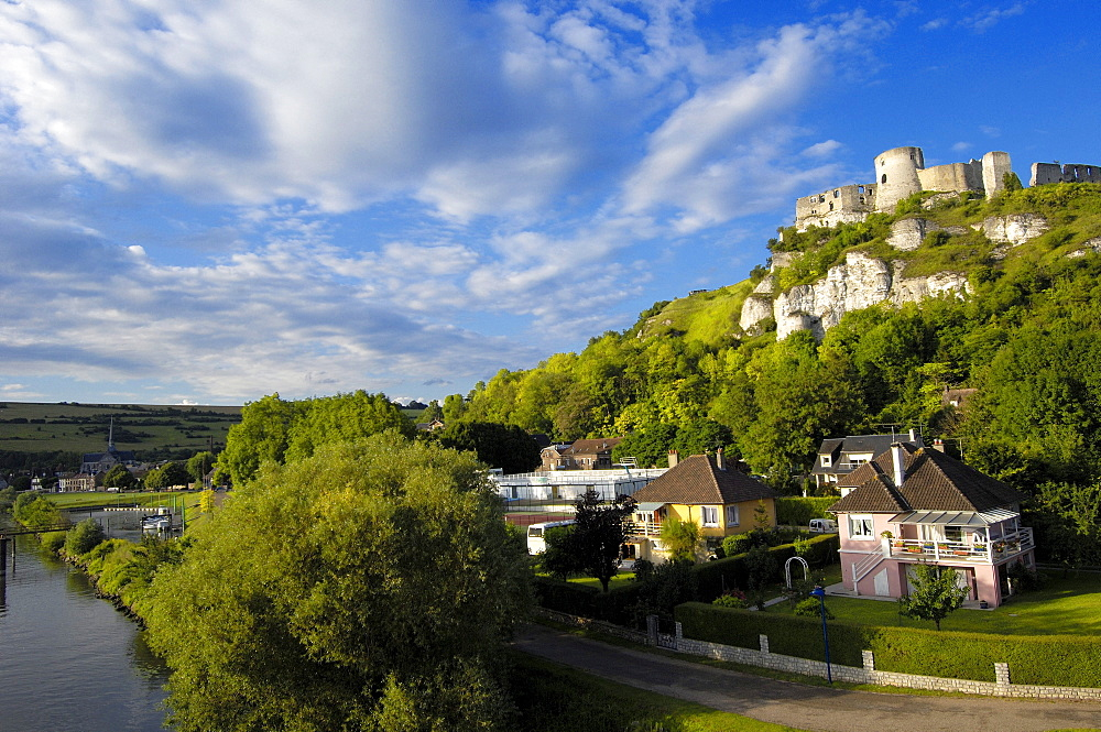 Galliard Castle, Chateau-Gaillard, Les Andelys, Seine valley, Normandy, France, Europe