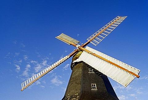 Worpsweder Muehle, windmill, Worpswede, Teufelsmoor, devil's bog, Lower Saxony, Germany, Europe