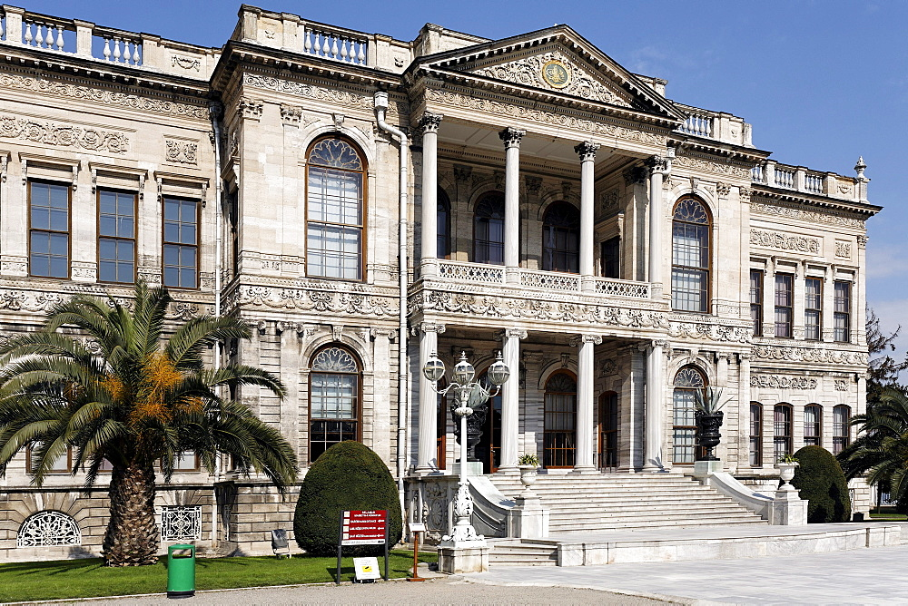 Dolmabahce Palace, the Sultan's palace from the 19th Century, Besiktas, Istanbul, Turkey