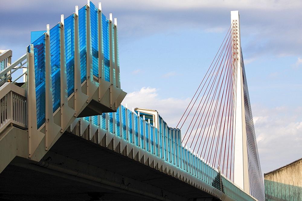 Raiffeisenbruecke Bridge, Neuwied, Rhineland-Palatinate, Germany, Europe