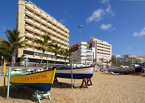 Las Canteras beach in Las Palmas, Grand Canary, Canary Islands, Spain
