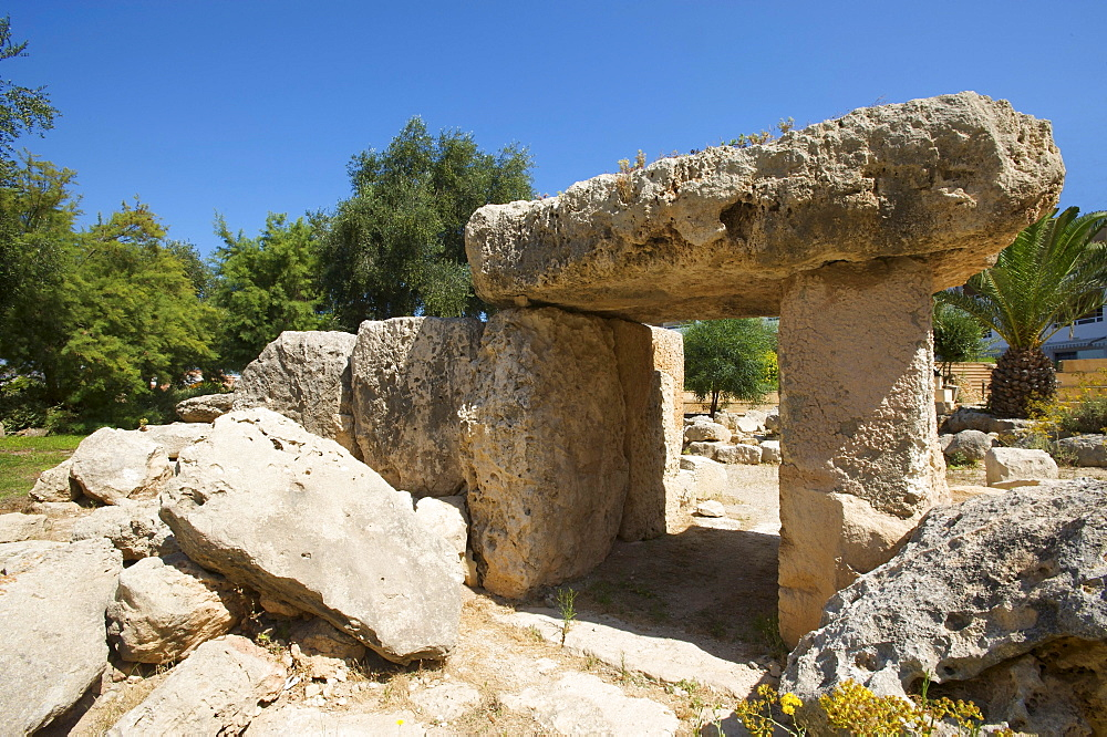 Megalith in St Pauls Bay, Malta, Europe