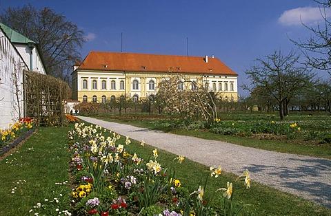 Hofgarten park and Dachau castle, Upper Bavaria, Germany