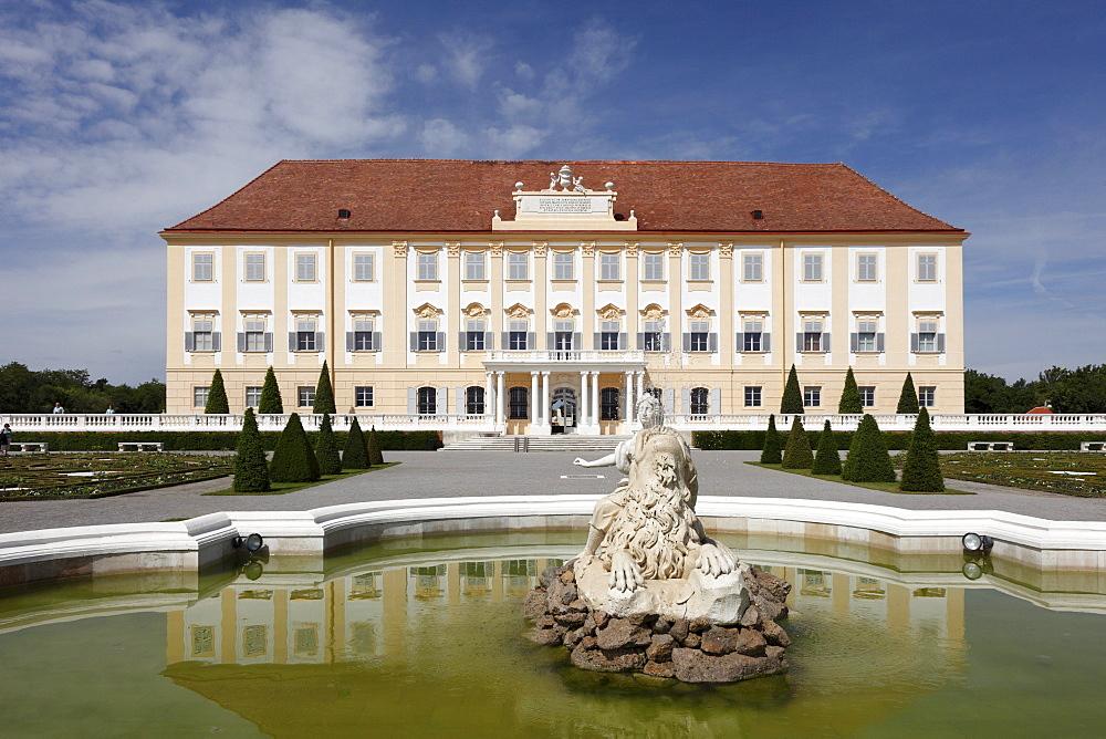 Najadebrunnen fountain, baroque terrace garden, Schloss Hof castle in Schlosshof, Marchfeld, Lower Austria, Austria, Europe