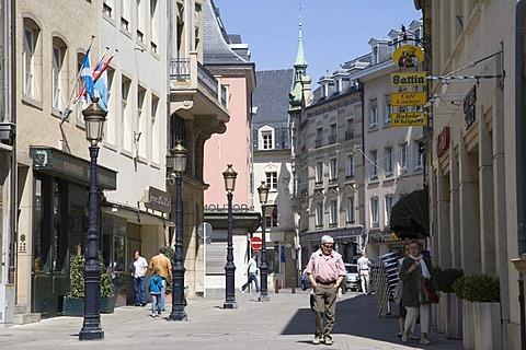 Rue du Marche aux Herbes, Luxembourg