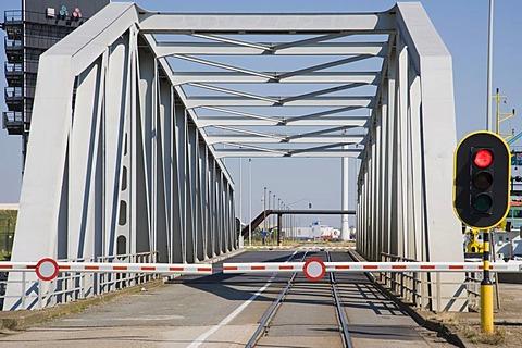 One of many bridges at Antwerp port, Belgium