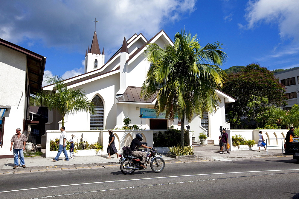 St Paul's Church in Albert Street, the capital of Victoria, Mahe Island, Seychelles, Indian Ocean, Africa
