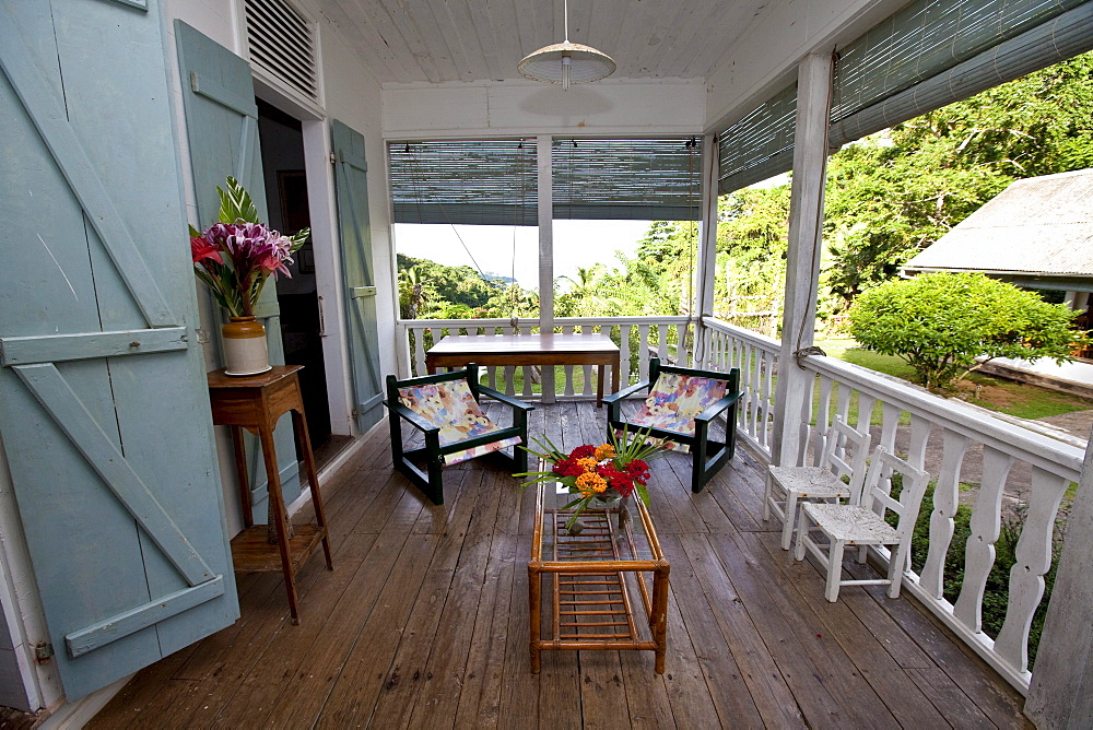 Old house of the owner of the Le Jardin Du Roi Spice Garden, Mahe Island, Seychelles, Indian Ocean, Africa