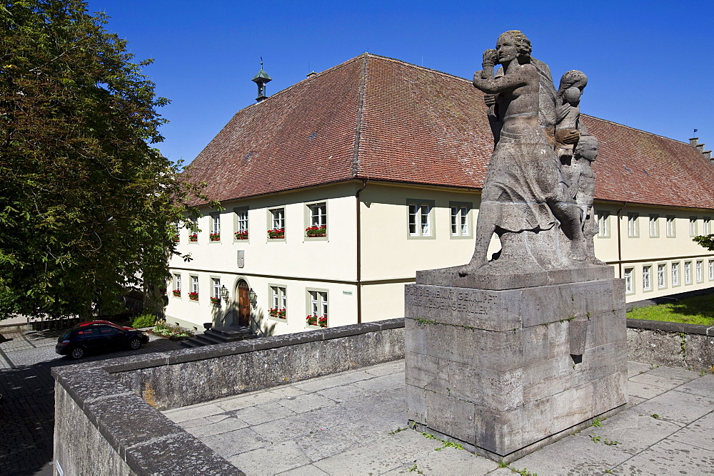 War Memorial to the fallen soldiers of 1870-71, Benedictine St Mary and Markus Abbey, Mittelzell, Reichenau Island, Lake Constance, Baden-Wuerttemberg, Germany, Europe