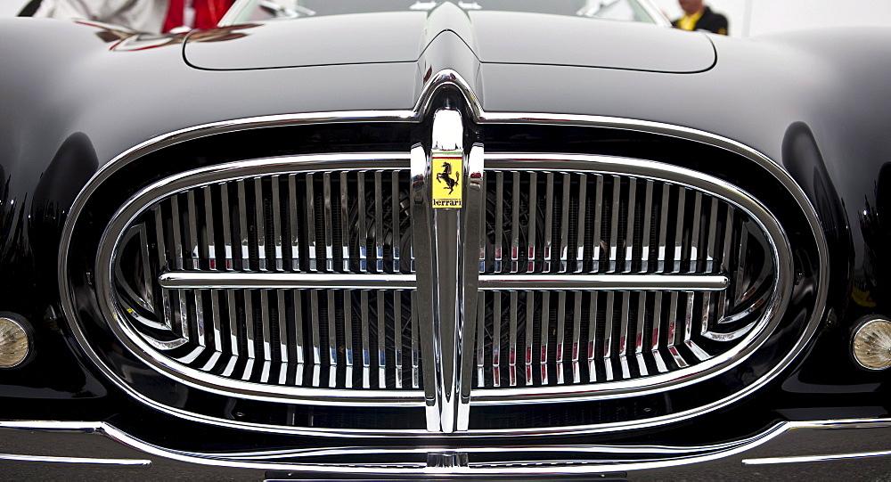 Grille of an old Ferrari, Oldtimer Grand Prix, Nuerburgring, Rhineland-Palatinate, Germany, Europe