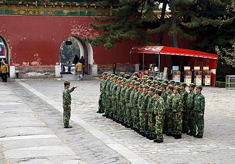 Soldiers, Ming-tombs, China, Asia