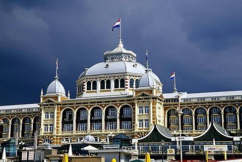 Steigenberger Kurhaus Hotel, a luxury hotel on the promenade of Scheveningen, a sophisticated seaside resort neighbouring Den Haag on the Dutch North Sea coast, province of South Holland, Zuid Holland, the Netherlands, Europe