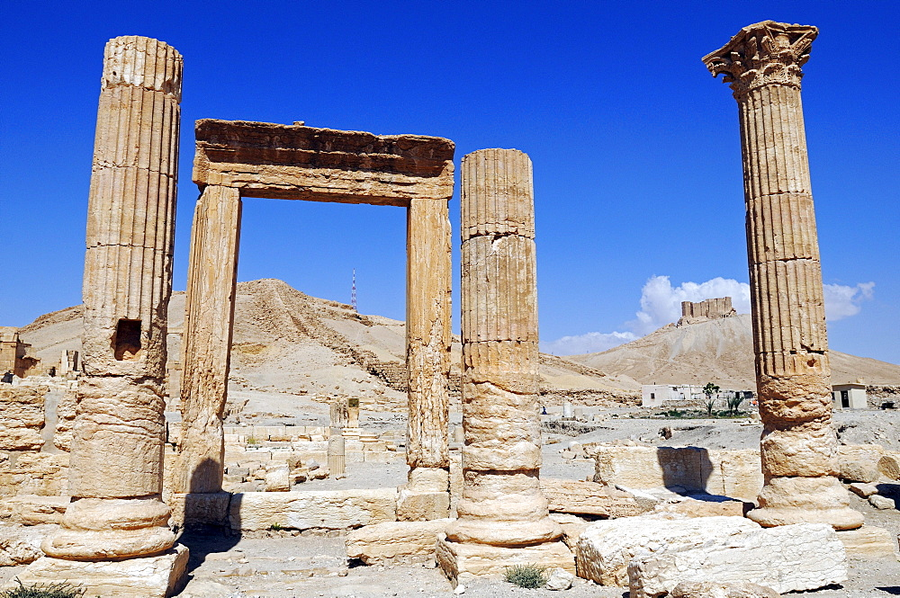Ruins of the Palmyra excavation site, Tadmur, Syria, Asia