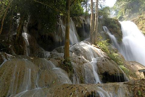 Kuang Xi waterfall near Luang Prabang, Laos, Asia