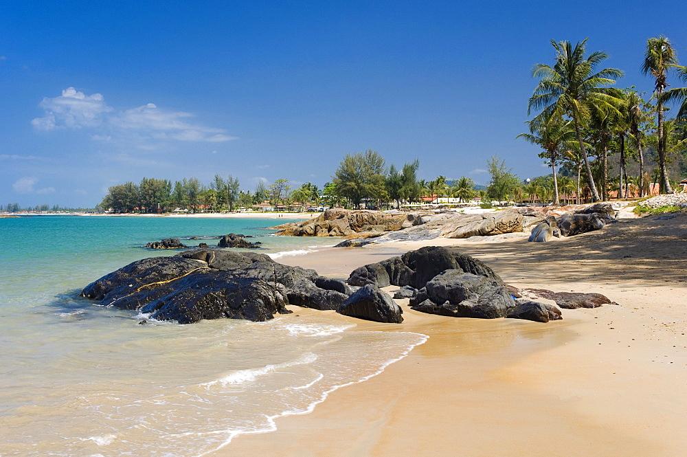 Sandy beach, Nang Thong Beach, Khao Lak, Andaman Sea, Thailand, Asia