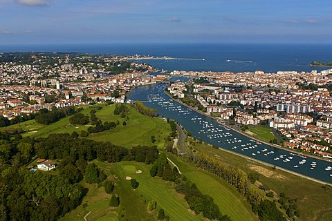 Aerial view of St Jean de Luz, France