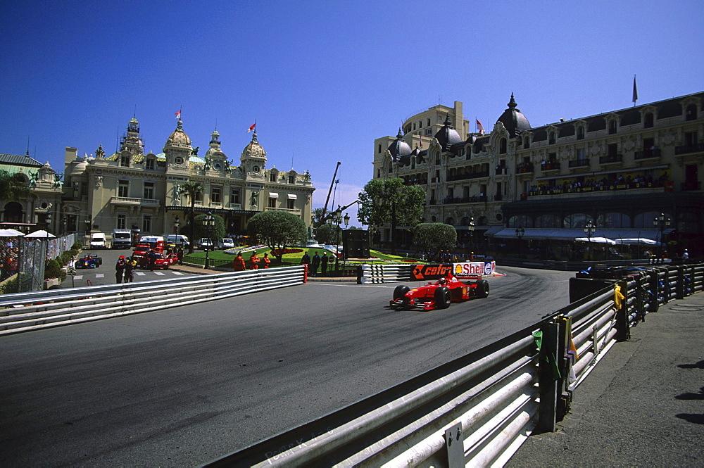 Michael Schumacher on Ferrari, Monaco F1 GP 99, Monte Carlo, Monaco, Europe