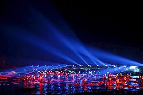 """Theater show """"Impression Sanjie Liu"""" by director Zhang Yimou in Yangshuo, Guangxi, China, Asia"""