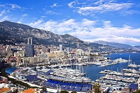 View of the Port of Hercules, La Condamine, Monte Carlo, Monaco, Europe