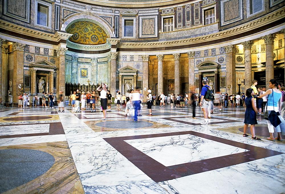 Main altar, Cella, interior, Pantheon, Rome, Lazio, Italy, Europe
