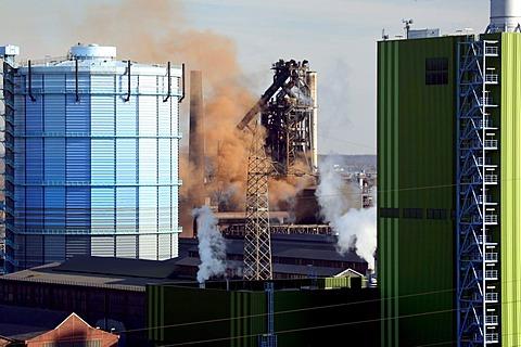 Ironworks, Duisburg, Ruhr area, North Rhine-Westphalia, Germany, Europe