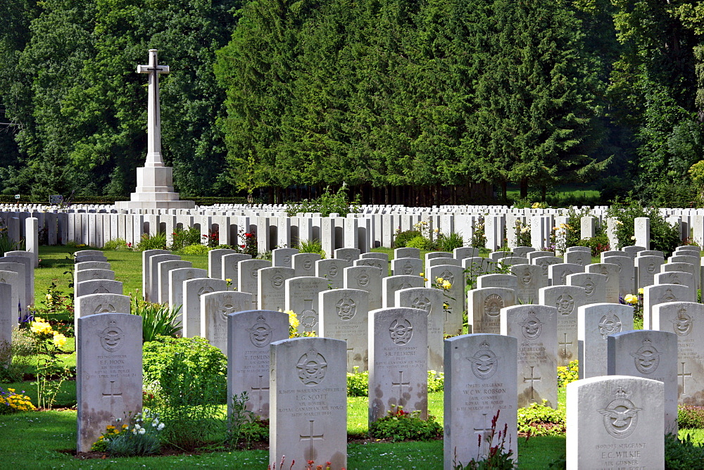 Durnbach War Cemetery, 2960 soldiers killed in action, World War 2, Durnbach, Upper Bavaria, Bavaria, Germany, Europe