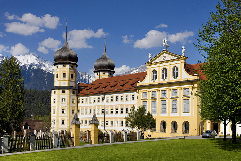 Stift Stams monastery, Cistercian Abbey, Mieminger mountain range, Inntal valley, Tyrol, Austria, Europe