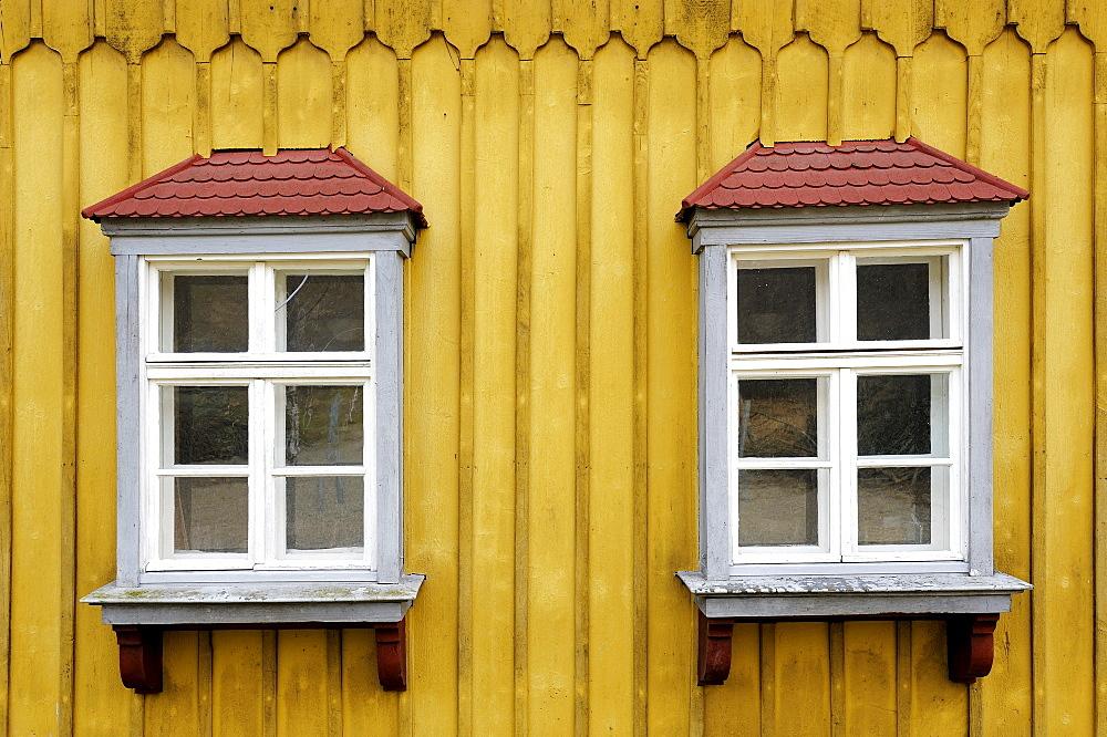 Bay window, Illerbeuren, Unterallgaeu, Bavaria, Germany, Europe