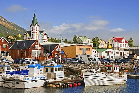 Fishing village, whale watching, Husavik, 'house bay', Iceland, Europe