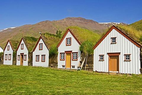 Holiday homes, Husavik, 'house bay', Iceland, Europe
