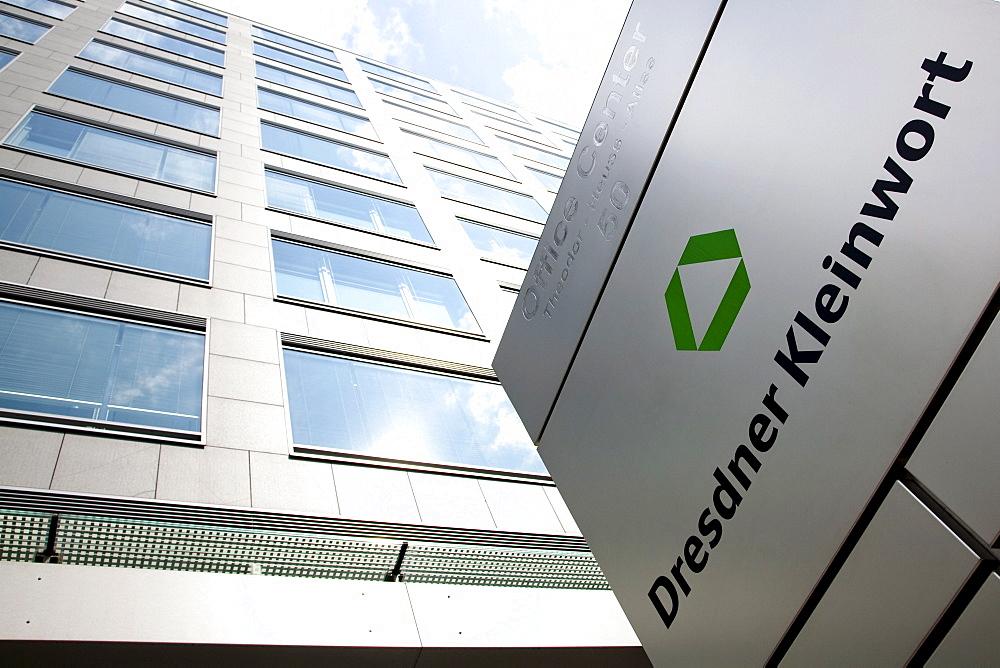 Headquarters of the investment bank Dresdner Kleinwort in Frankfurt, Hesse, Germany, Europe