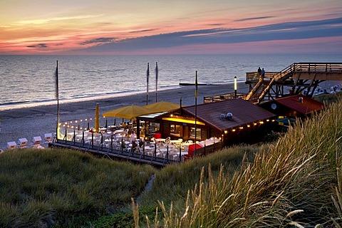 Beach bistro, Wenningstedt, Sylt, North Frisia, Schleswig-Holstein, Germany, Europe