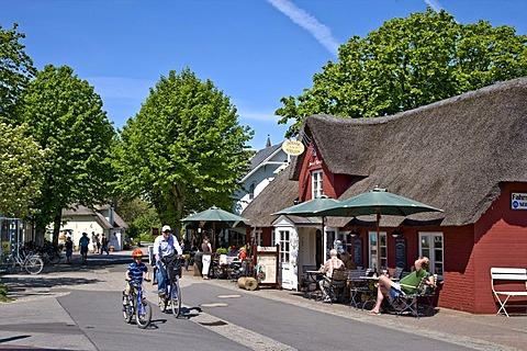 Cafe in Nebel, Amrum, North Frisia, Schleswig-Holstein, Germany, Europe